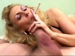 Hot Mature Blondie Smoking Blow-job (short clip)