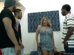 Tough mature breezy Karen Summer gets gangbanged like never before