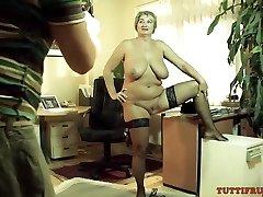 Mature slut on porn audition