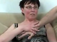 Horny mature fisted and fucked by stud and ebony honey