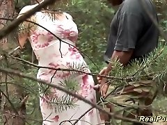 busty stepmom loves fuck-fest in nature