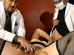 Meaty French mature gets weird anal injections