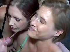 Amazing Never-ending Cumshot on Hot Milf Face