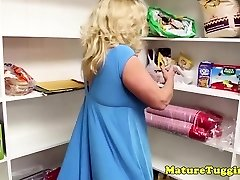 Busty stepmom jerking lucky point of view guy