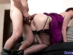 Euro glamour mature doggystyle humped