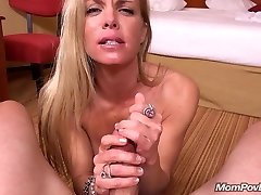 Fit MILF gargles and fucks youthful cock