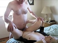 Mature couple having a sexual romp