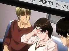 Busty Japanese hentai mom warm gangbanged