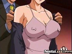 Hentai.xxx - Busty MILF'S First-ever Threeway