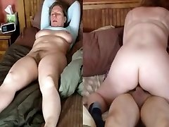 Wife rides and climax
