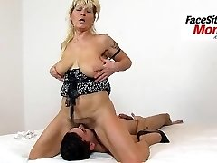 Hairy honeypot cunt licking with granny Hana her stepson