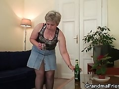 Old granny dual penetration