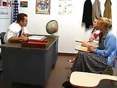 Schoolgirl fucked by teacher. Mom fingered and observes