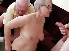 Elderly husband pulverized with young man