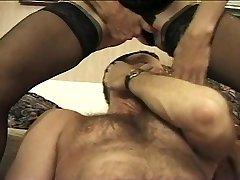 Spraying Granny Rides His Face & Cock