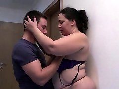 Huge and hot mature gets boned hard by a young guy