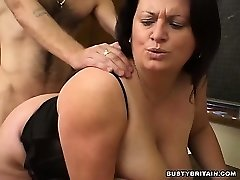 BBW Angel Drilled In Classroom