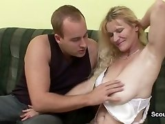 Mom get caught by german step-son and fucked her furry hole