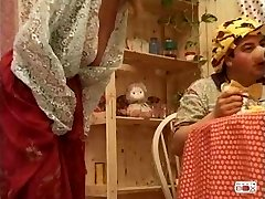 Manya - Italian mature ravaged by three boys