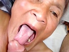 Old latina amateur granny  with ample boobs and big ass