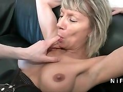 Spray french mature hard analized for her casting sofa