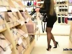 Best Mummy Shopping With Buttplug Watch pt2 at goddessheelsonlin