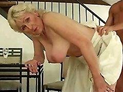 Ash-blonde Hairy Granny R20