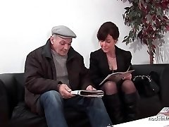French mature hard sodomized and Dp in 3way with Papy Voyeur
