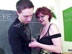 Female Sex Schoolteacher Seduce Young Boy to Fuck her MILF Pussy