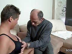 Horny German Grandpa Entice Teen to Shag with Him
