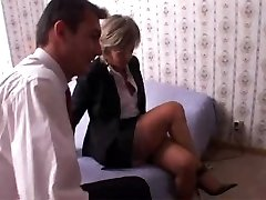 Mature in Nylon Pantyhose Measures Up