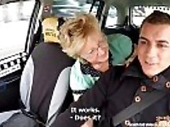 Czech Mature Blond Greedy for Taxi Drivers Cock