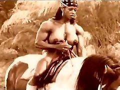 Muscle dark-hued mature hookup on a hors