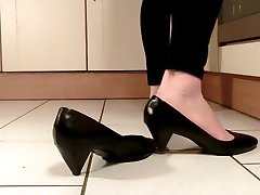 Sexy mature soles in kitchen...