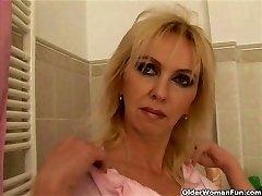 Busty mature mom fucks fuck stick