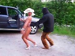German mom naked in public