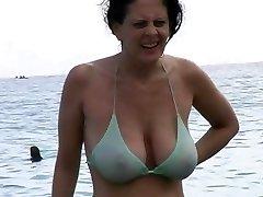 Sizzling Milf in Bikini at The Beach