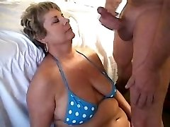 Blowing a load on cougars face 1fuckdatecom