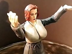 Gillian Anderson Xfiles Toy Fetish fantasy sci sculpt WIP
