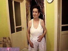 granny with humungous boobs has fun