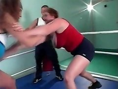 busty grappling