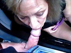 Pretty Mature Wife Fellates Cock Through Car Window