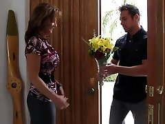Bringing flowers to his hottest buddy's mom