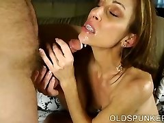 Super mind-blowing skinny old spunker is a very hot fuck