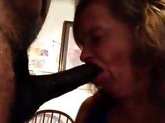 65 yo wife - Deepthroat bi-atch