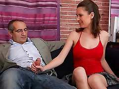 TrickyOldTeacher - Mature teacher gets dt from mind-blowing college girl and fucks her pussy