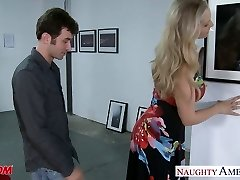 Spectacular blonde mom Julia Ann gets big jugs poked