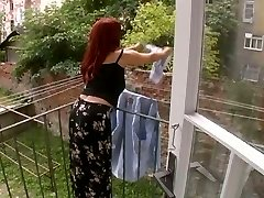 Sexy Mature Wifey Attacked While Dangling Laundry - Cireman