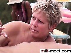 Swingers at the Nudist Beach - Cooch from MILF-MEET.COM