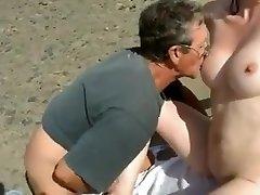 Naked Beach - Shy Wifey Plays with Strangers